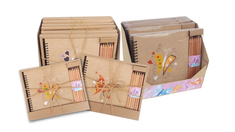 notebooks made from MDF by patch-wood at paperworld middle east