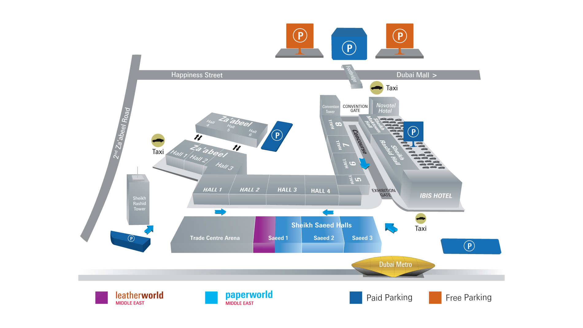 Venue Map Paperworld Middle East