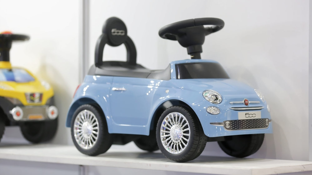 toy car in playworld village at paperworld middle east