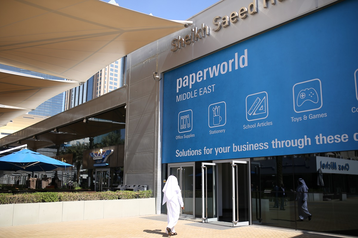 paperworld middle east banner at dwtc
